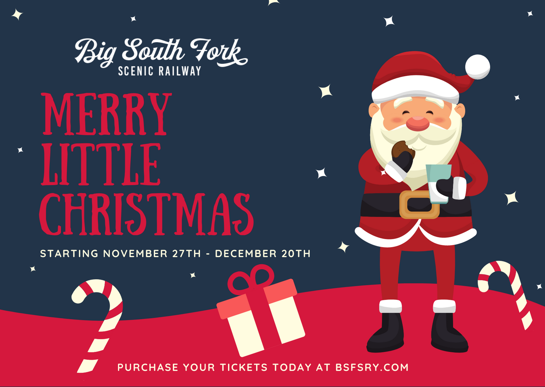 Powder Blue Red Santa Claus Stars Christmas Thank You Card